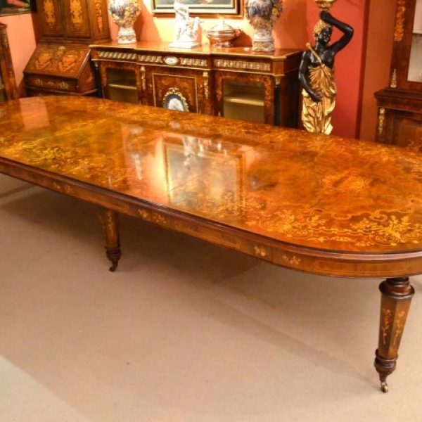 00626-Stunning-Bespoke-Handmade-14ft-Marquetry-Burr-Walnut-Dining-Table-23