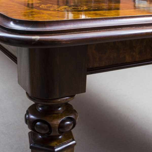 06703-Stunning-Bespoke-Handmade-10ft-Burr-Walnut-&-Marquetry-Dining-Table-15