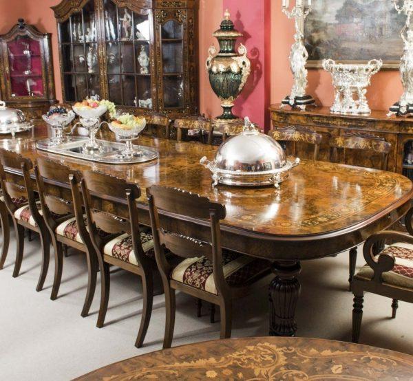 06494-Huge-Bespoke-Handmade-17ft-Marquetry-Burr-Walnut-Dining-Table-5