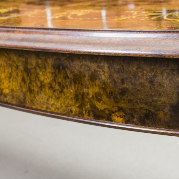 00059-Stunning-Bespoke-Handmade-Burr-Walnut-10ft-Oval-Marquetry-Dining-Table-12