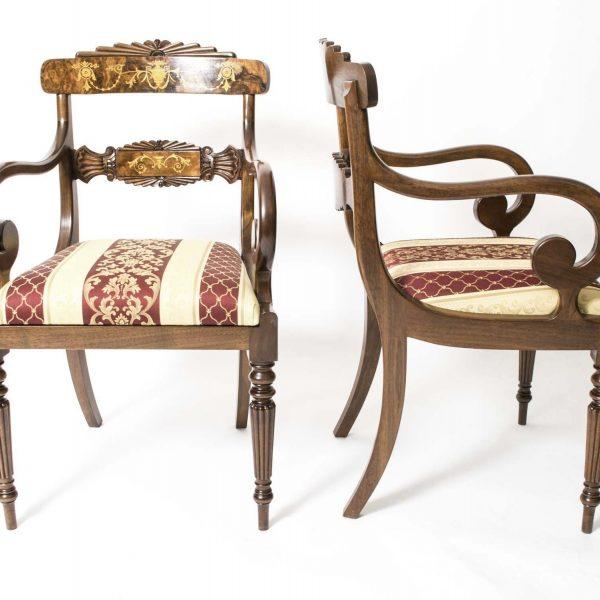 08208a-Huge-Bespoke-Handmade-Marquetry-Burr-Walnut-Extending-Dining-Table-18-Chairs-32