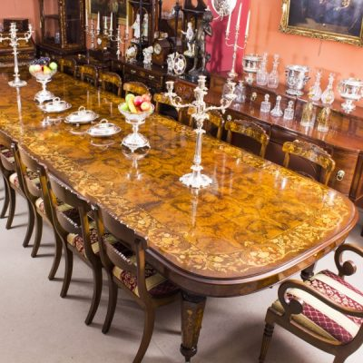 08208a-Huge-Bespoke-Handmade-Marquetry-Burr-Walnut-Extending-Dining-Table-18-Chairs-4