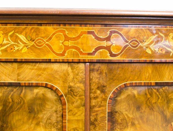 02299-Enormous-Bespoke-Handmade-Burr-Walnut-Marquetry-4-Door-Sideboard-13