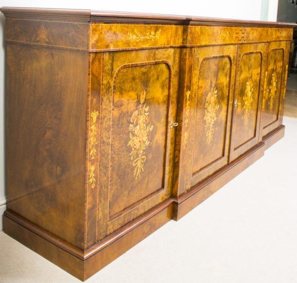02299-Enormous-Bespoke-Handmade-Burr-Walnut-Marquetry-4-Door-Sideboard-3