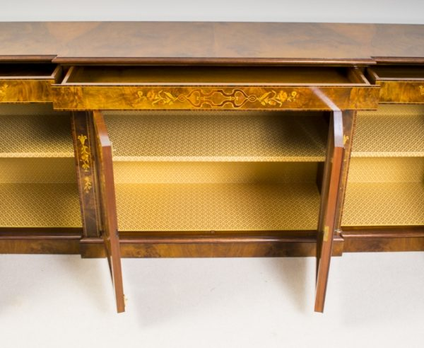 02299-Enormous-Bespoke-Handmade-Burr-Walnut-Marquetry-4-Door-Sideboard-5