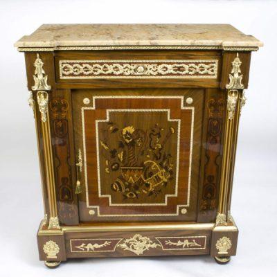 02939-Stunning-Bespoke-Handmade-Victorian-Walnut-&-Mahogany-Marquetry-Cabinet-2